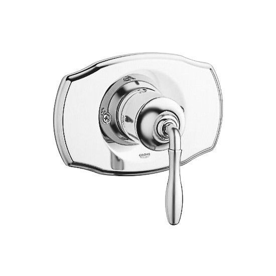 Grohe 19708BE0 Polished Nickel Seabury Single Handle Grohsafe Pressure Balanced Trim only with Metal Lever Handle