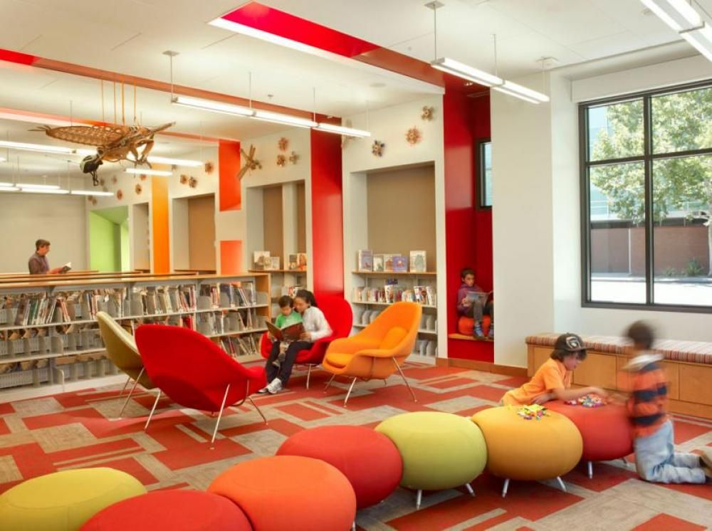 Awesome Kids Library Furniture Colorful Contemporary Comfortable