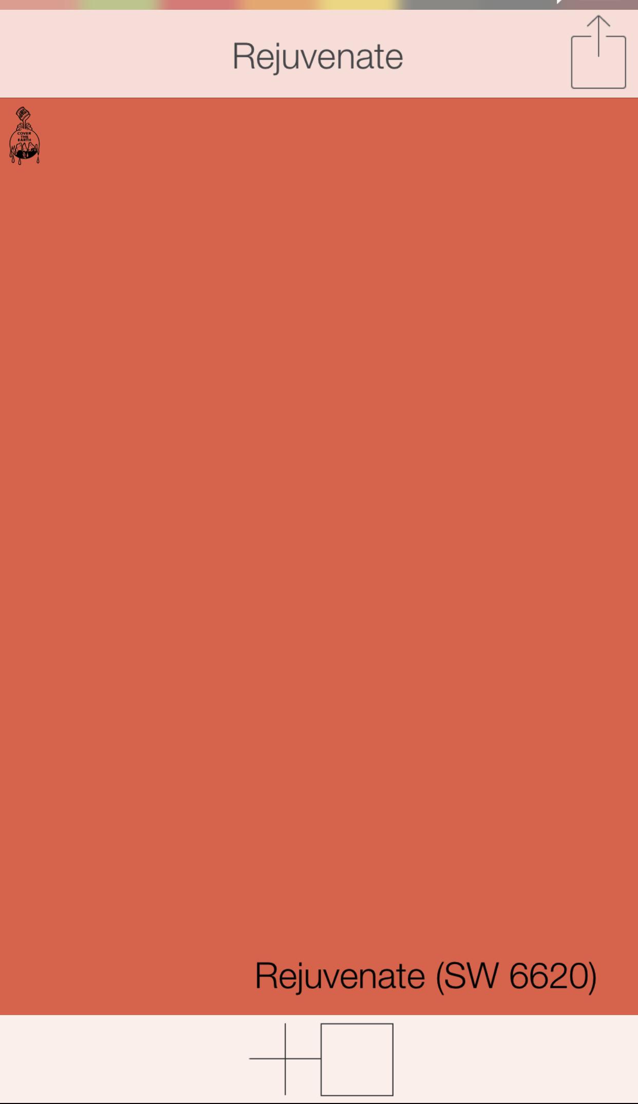 Front Door Colors   Rejuvenate SW 6620   Sherwin Williams Paints    SwatchDeck App  