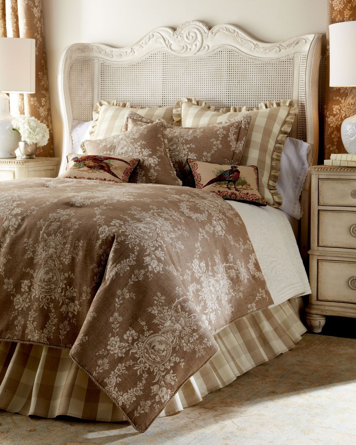 Sherry Kline Home Two 52w X 96l Country House Toile Curtains