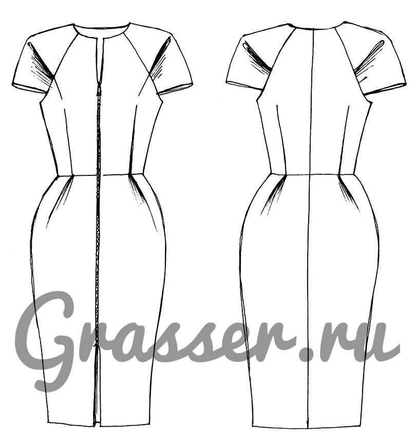 2eae37a83c41 Бесплатная выкройка платья - модель 289 - скачать готовые выкройки одежды |  Бюро GRASSER