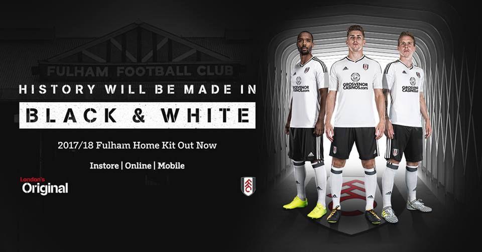 b348479fef Camisas do Fulham 2017-2018 Adidas