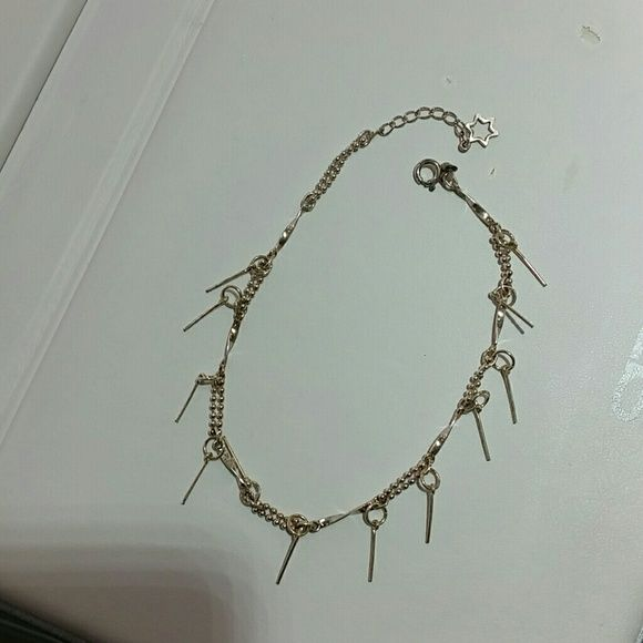 925 sterling silver ankelet bracelet Stamped 925. Jewelry Bracelets