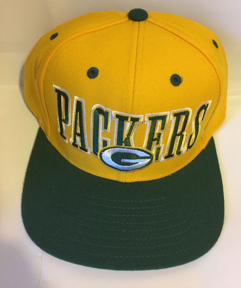 New Rebook Vintage Nfl Green Bay Packers Hat Greeen Yellow Snapback Cap Fashion Clothing Shoes Accessorie Green Bay Packers Hat Packers Hat Hats