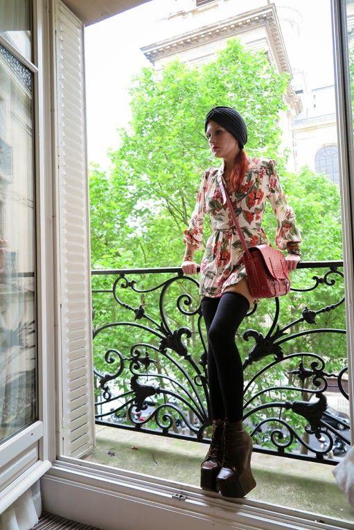 Dress: Asos petit (made shorter) Bag: Goyard Necklace: Hermes Bracelets: Hermes Turban: Asos Socks: Agent Provocateur Shoes: Jeffrey Campbell Rings: Cartier & Ottoman Hands