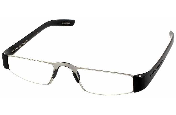 dd3ae213e1e0 Porsche 8801 Single Vision Half Frame   Titanium Black   pinglasseswinglasses  readingglasses