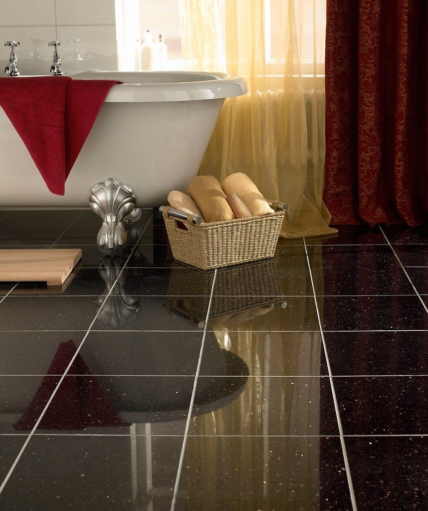 Polished Granite Black Galaxy 305 X 61cm Tile Topps Tiles