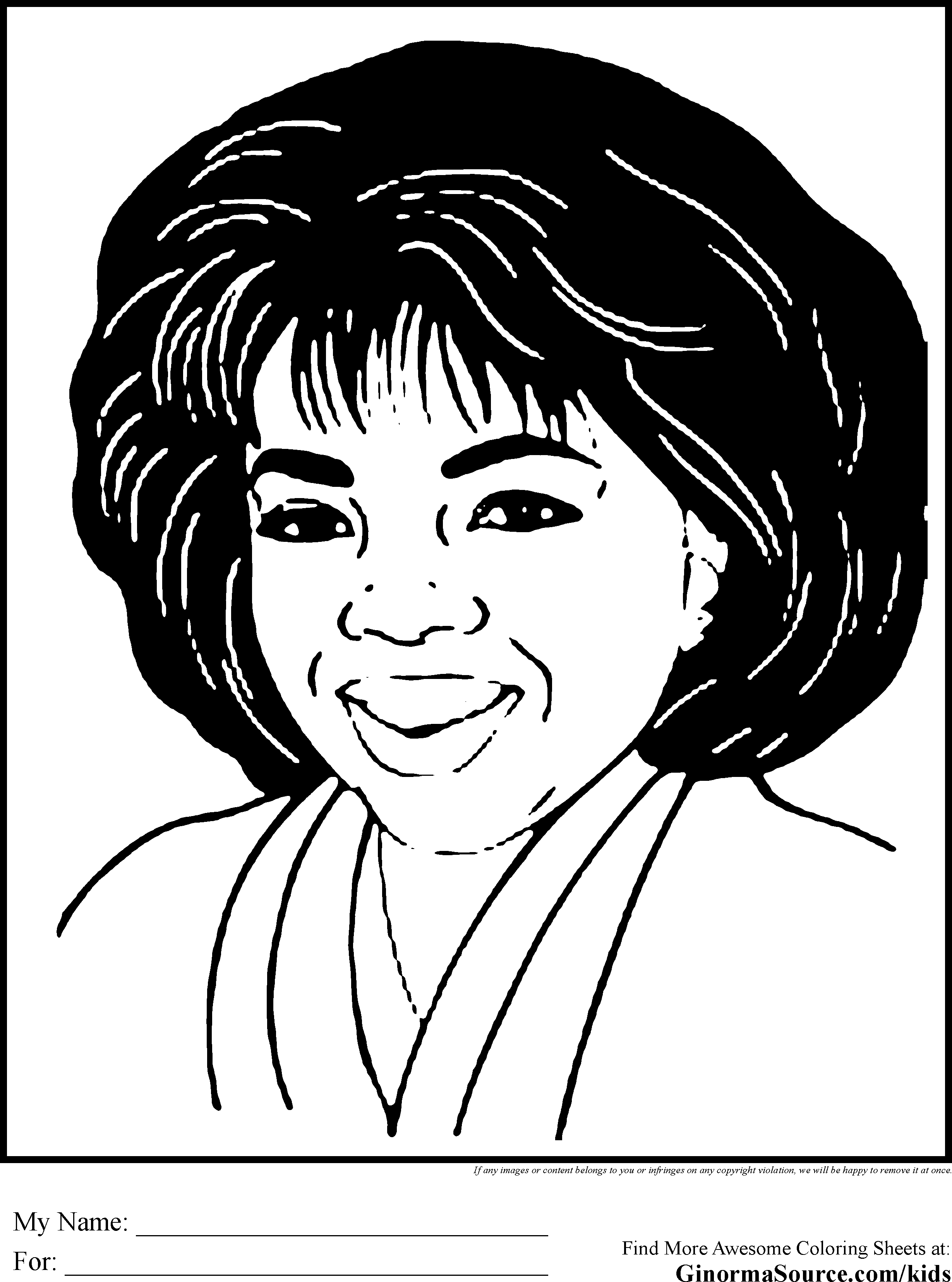 Black History Coloring Pages Oprah African American Kids