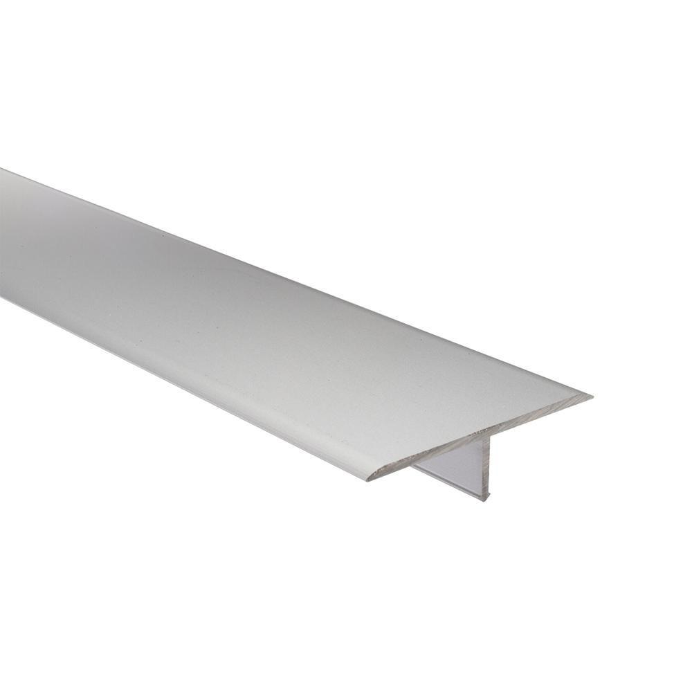 Emac Novosepara 4 Matt Silver 9 16 In X 98 1 2 In Aluminum Tile Edging Trim Nr413 Tile Edge Glass Mosaic Tiles Mosaic Glass