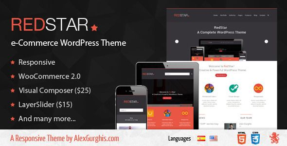 RedStar - e-Commerce WordPress Theme | Wonderful Wordpress Theme ...