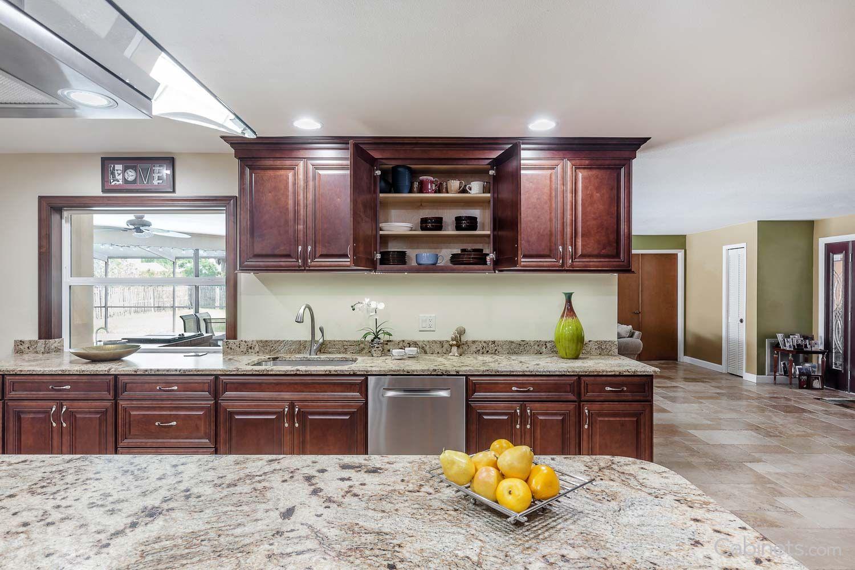 springfield maple java coffee glaze traditional kitchen kitchen kitchen colors on kitchen cabinets java id=99731