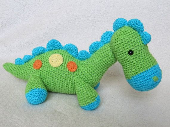 Amigurumi Food: Dino Crochet Mobile | 428x570