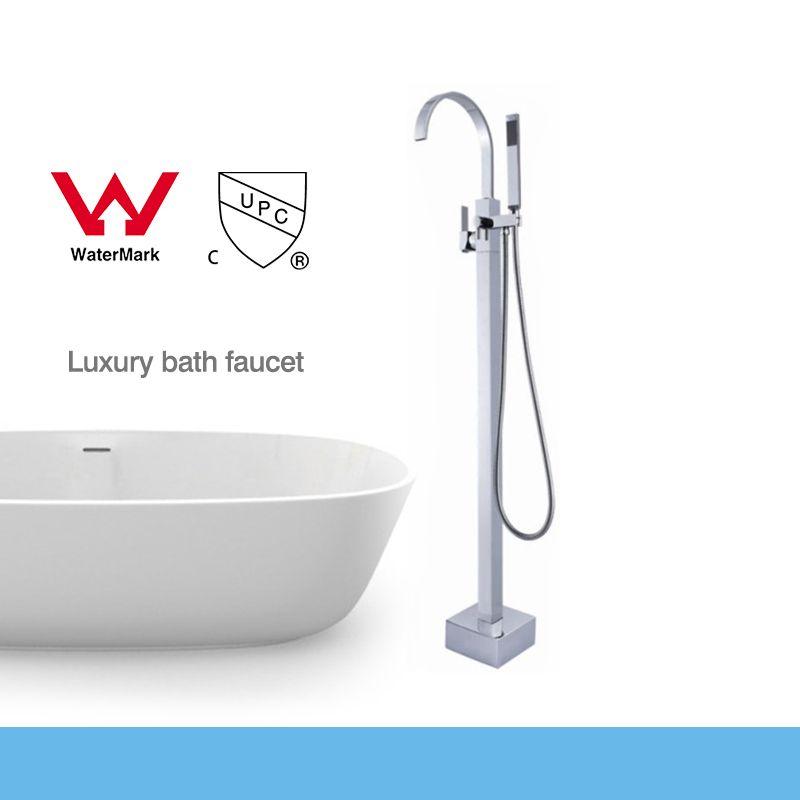 WELS and CUPC Bathroom Floor Standing Bath Tub Faucet Mixer Set ...