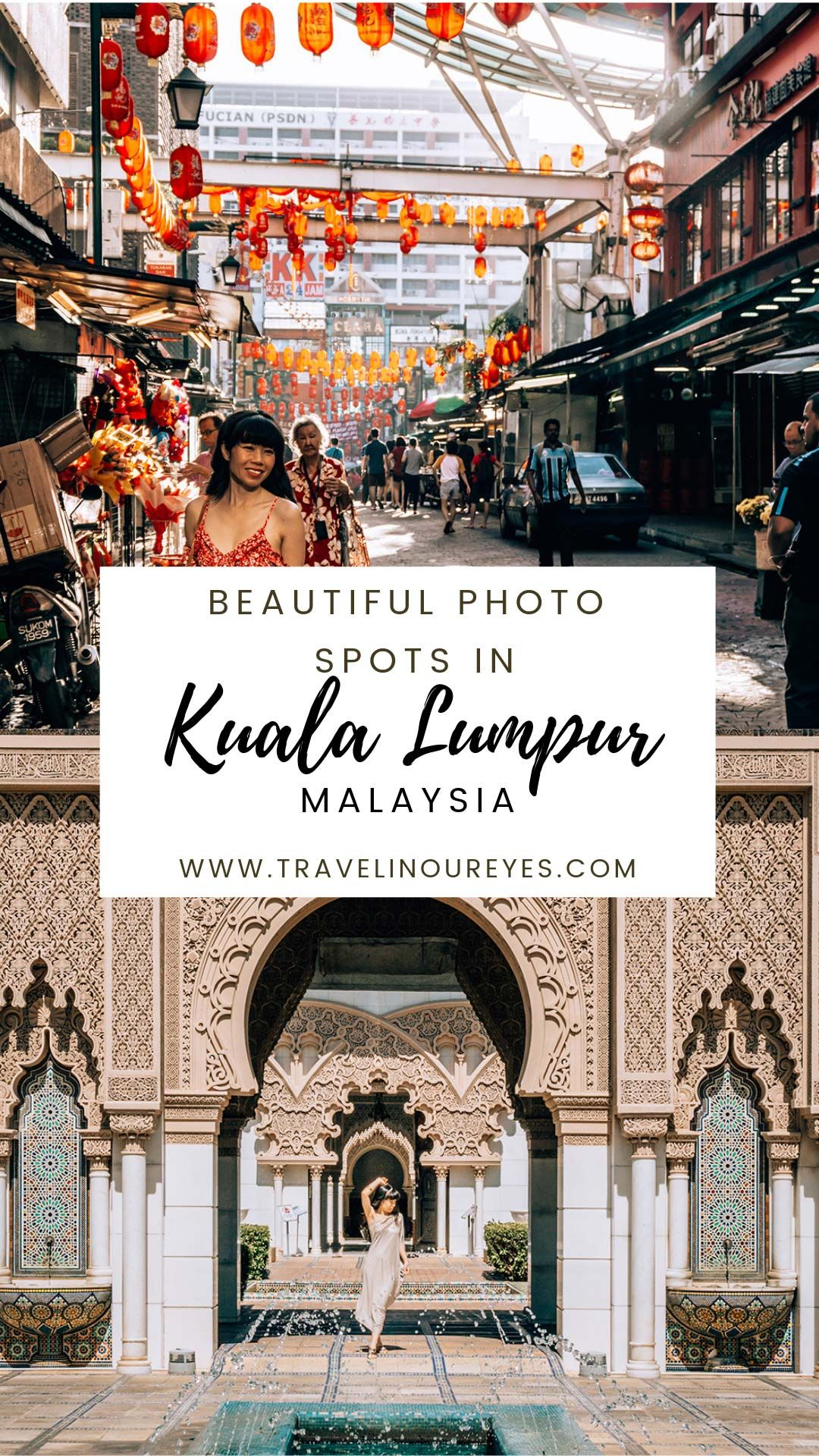 Kuala Lumpur has so much to offer and is one of the most visited cities in the world! Yet KL is not as known for photo spots as other South East Asian destinations. We hope to change that with our list of most beautiful Instagrammable spots in KL | Travel Couple Sue & Renesh | www.travelinoureyes.com  #kualalumpur #travel #malaysia #traveldestinations #travelphotos