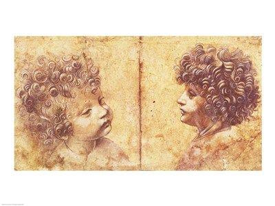 Study of a child\'s head Art Print by Leonardo Da Vinci | Children ...