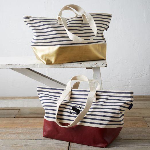 Baggu Dipped Weekender Bag - Striped | West Elm | Stitch fix ...