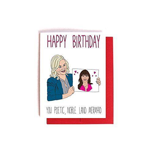 Leslie Knope Ann Perkins Birthday Card Parks And Recreation Bday Friendship Cards Birthday Cards Parks And Recreation