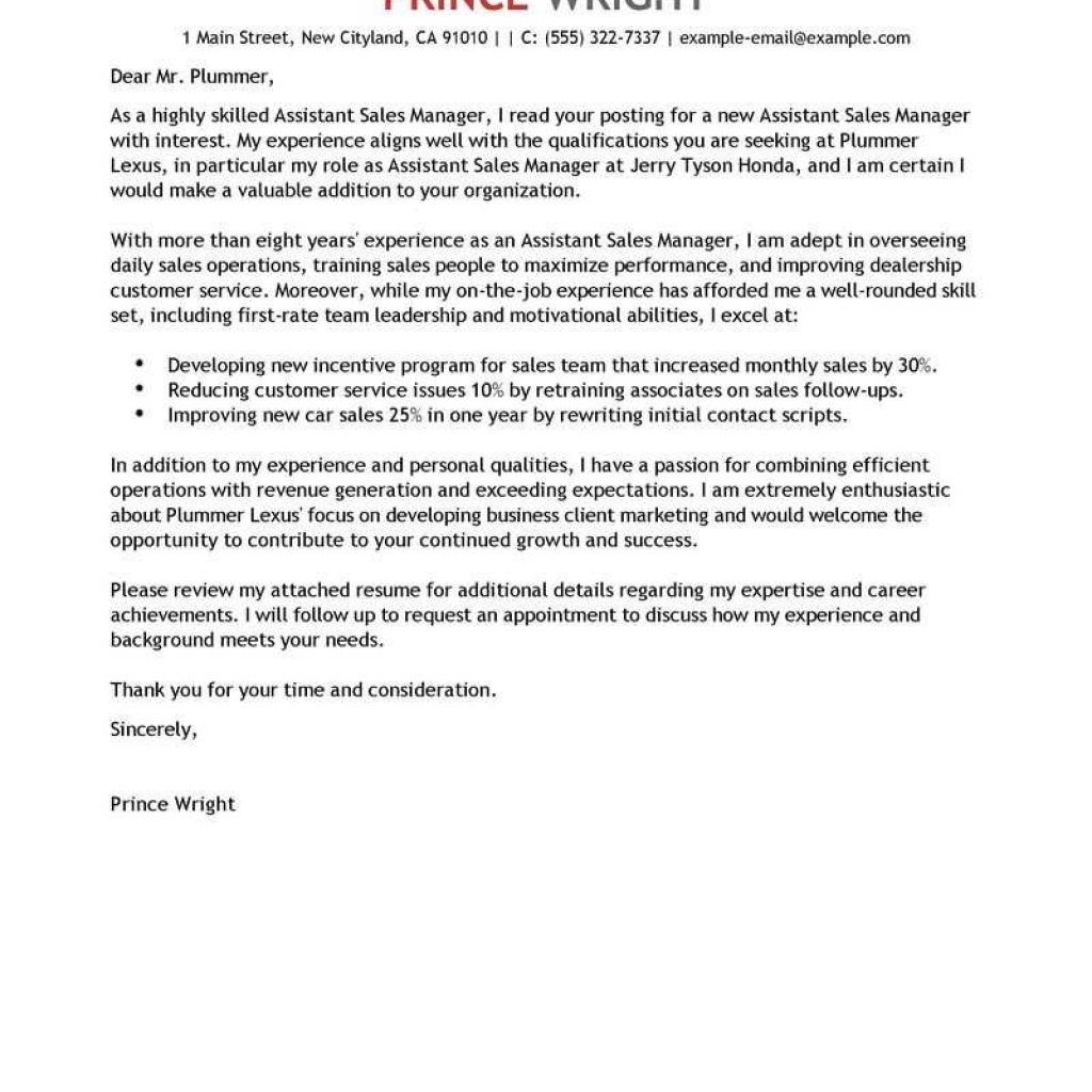 Leading Automotive Cover Letter Examples & Resources ...