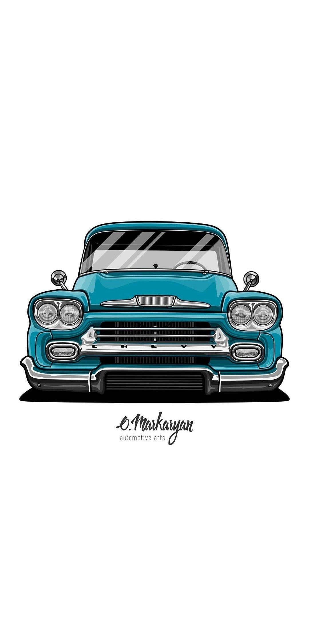 Pin De Cristian Bueno En Avto Art Coches Retro Dibujos De Autos Camioneta Dibujo