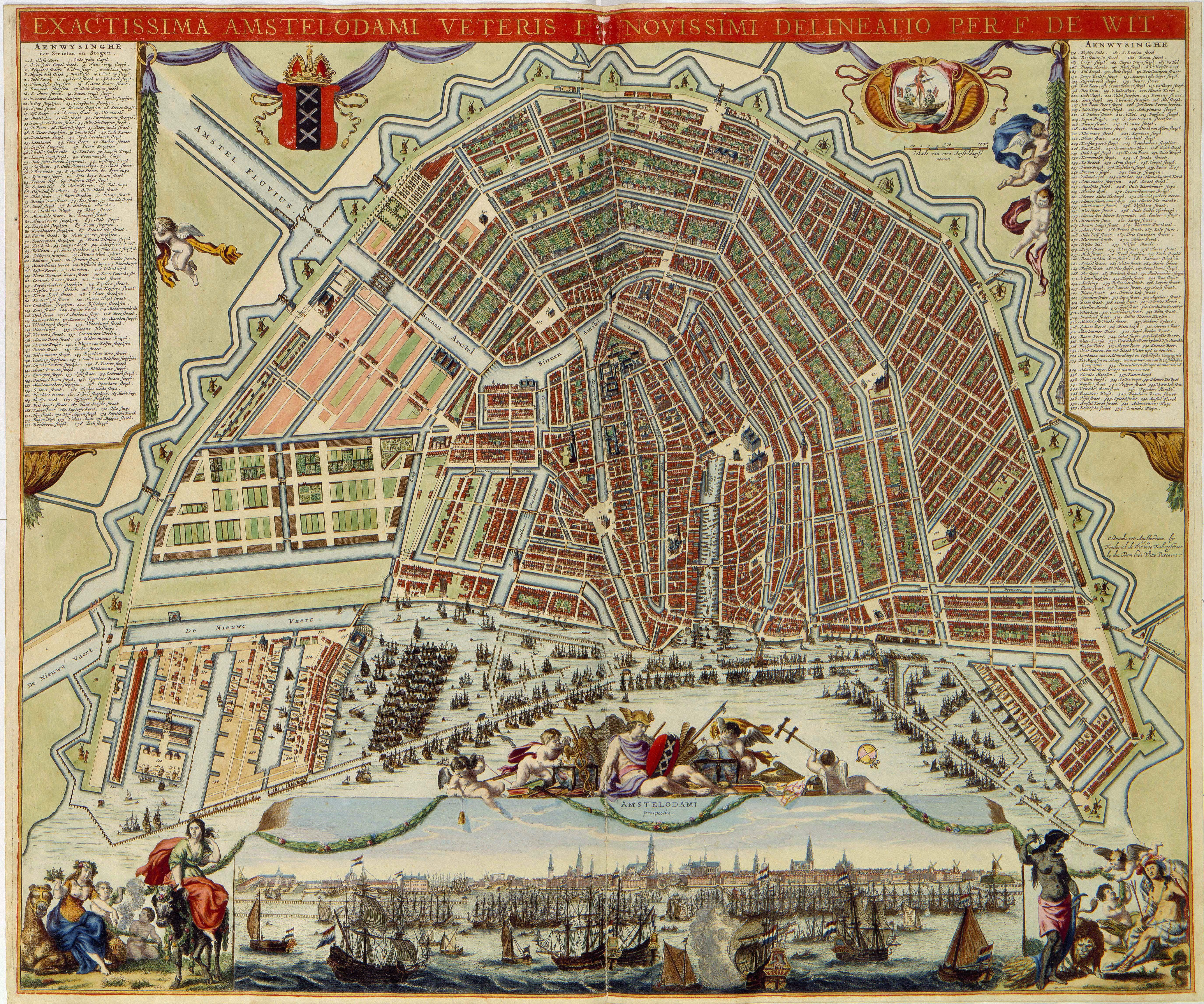 Amsterdam Maps Of Amsterdam Pinterest City Maps Fortification - Amsterdam old map