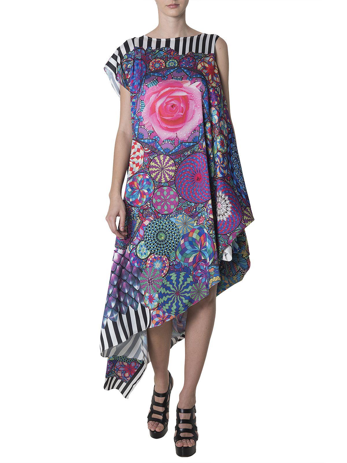 Sandragalan asymmetrical glam psy dress fashionprint inspired