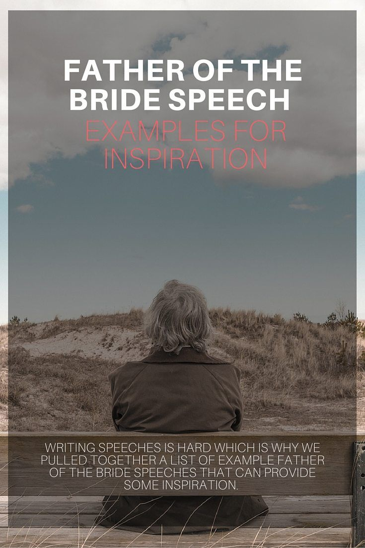 Father Of Bride Speech Example  Mob    Bride Speech