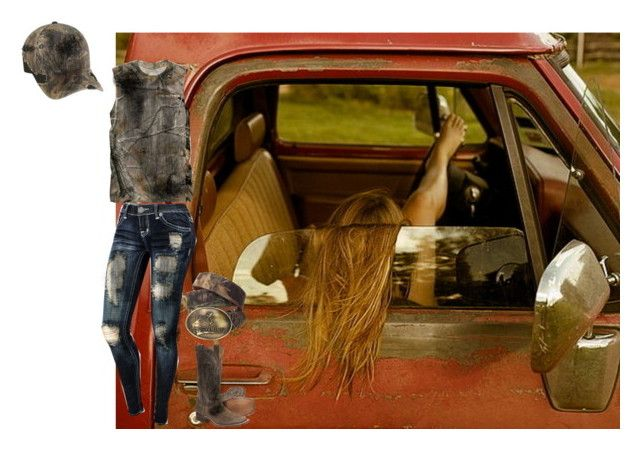 Working on my truck by reptilegirl99 on Polyvore featuring polyvore, mode, style, Realtree and Nocona