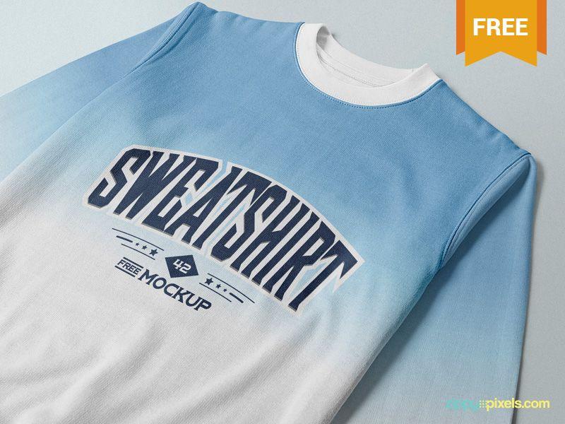 Free Crewneck Sweatshirt Mockup Crew Neck Sweatshirt Sweatshirts Mockup