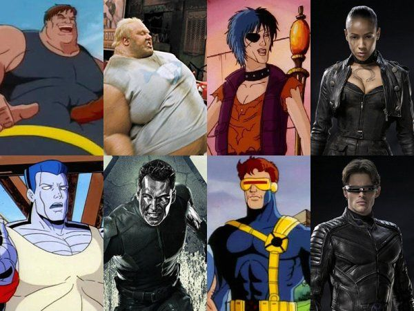 X Men Characters Cartoons Vs Movies Pics Xmen Characters Movie Pic Man Character