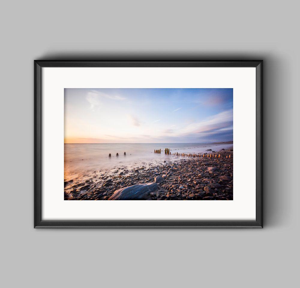 #Sunset at Llanrhystud Beach a coastal #Landscape