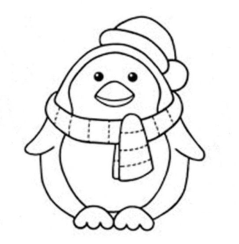 Winter Penguin Coloring Pages Penguin Coloring Penguin