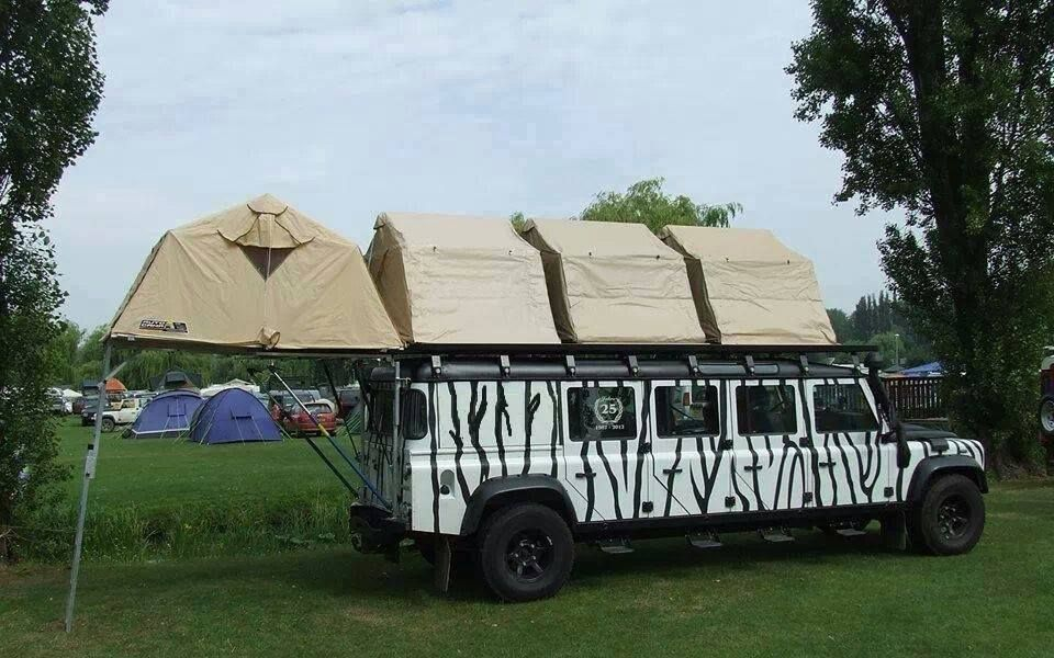 If you have a large family use a limo with many rooftop tents! This is & If you have a large family use a limo with many rooftop tents ...