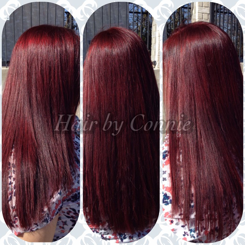 Cherry Cola Red Hair Color Matrix Sored Rv Hair By Owner Stylist Connie Buchanan Elite Salon Of Weat Hair Color Formulas Red Hair Makeup Matrix Hair Color