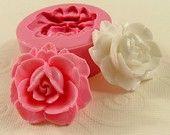Grande Rose Cabochon silicona molde/molde abierto (35 mm) para artesanía, joyería, fondant, chocolate, caramelo, jabón, resina, pmc, arcilla polimérica) (223)
