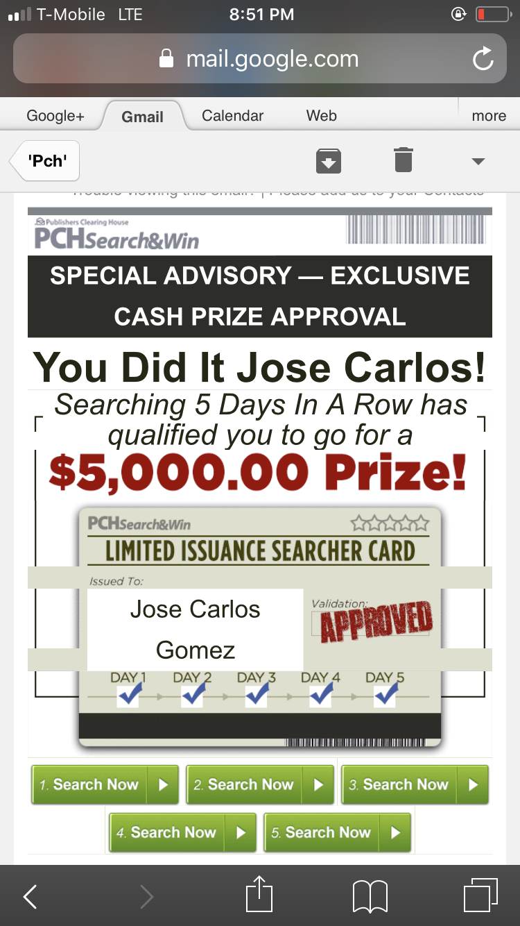 Pch I Jcg Claim Limited Issuance Searcher Card Approved Notice Sw