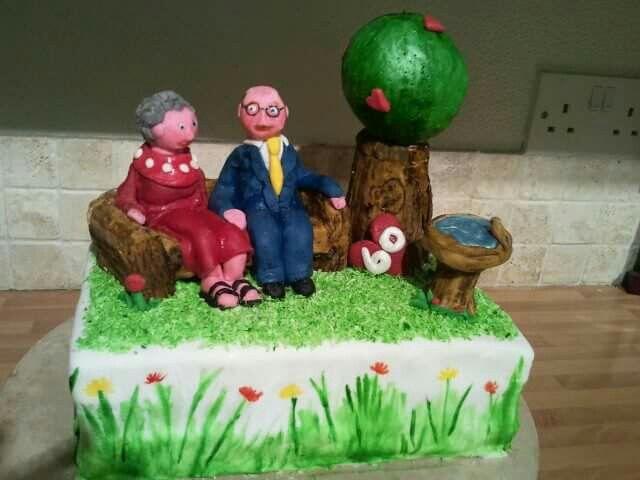 Grandparents Anniversary Cake Anniversary Cake Cake Birthday Cake