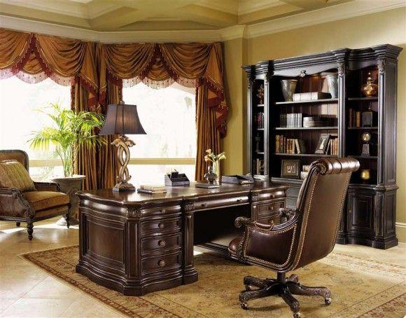Big Desk Traditional Executive Design by Lexington Furniture Home
