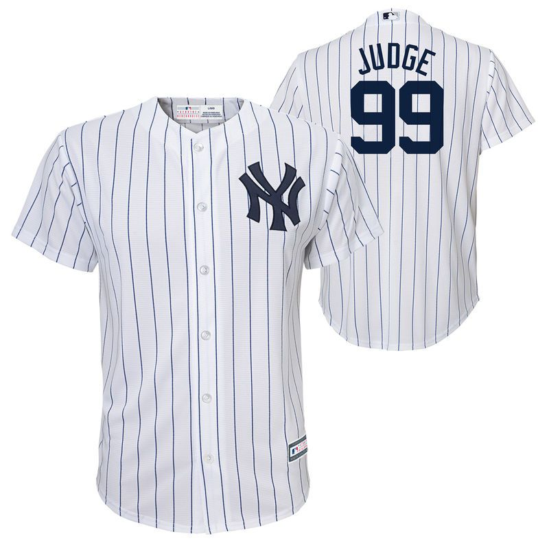 11e1cd937f0 Aaron Judge New York Yankees Preschool Replica Player Jersey – White ...