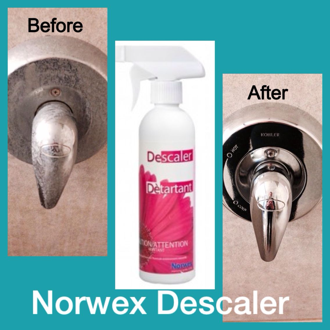 Norwex Descaler And The Enviro Cloth Tough Hard Water Stains Gone Www Dawncharles Biz
