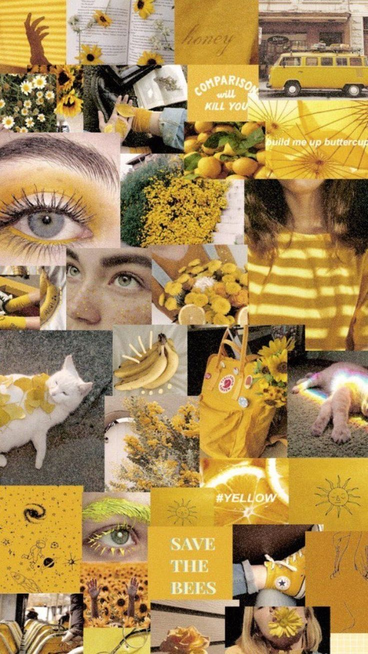 Ariri Pinterest Wallpapers Aesthetic Chill Yellow Tumblr Cool Lockscreen Aesthetic Ar Teenager Wallpaper Collage Hintergrund Tumblr Hintergrunde