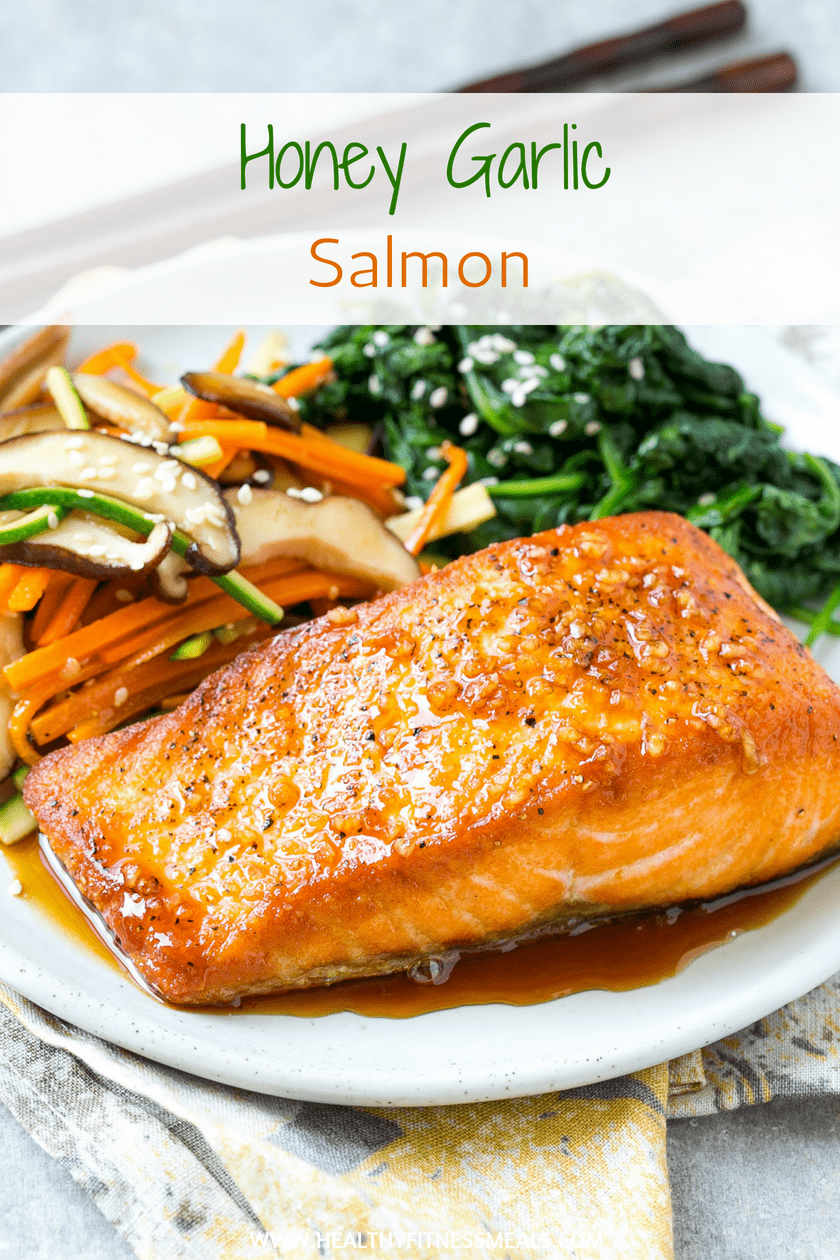 Honey Garlic Salmon -  Honey Garlic Salmon Recipe | Honey Salmon- Seared salmon fillets drizzled wi