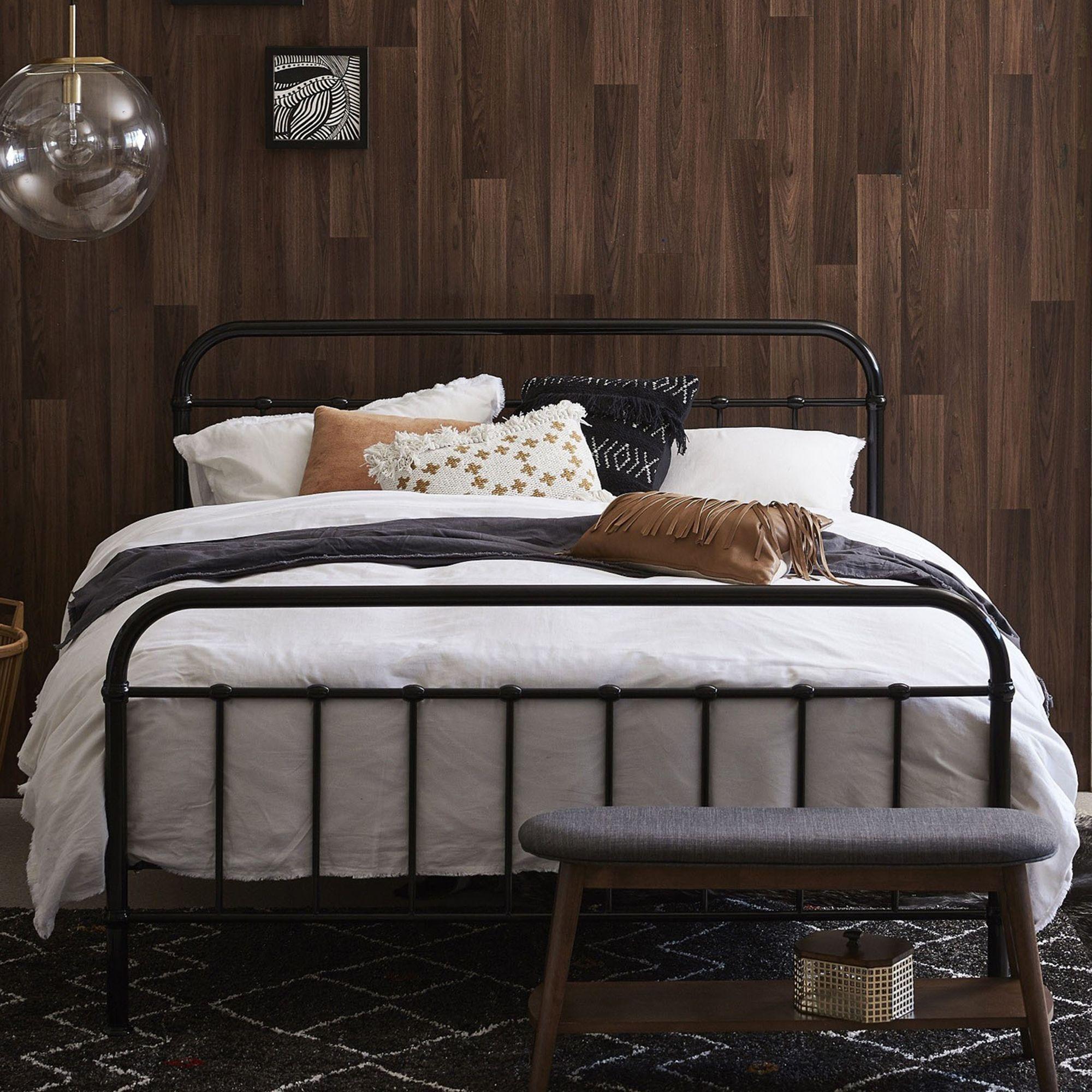 Black Bailey Metal Bed Frame Temple Webster Black Bed Frame
