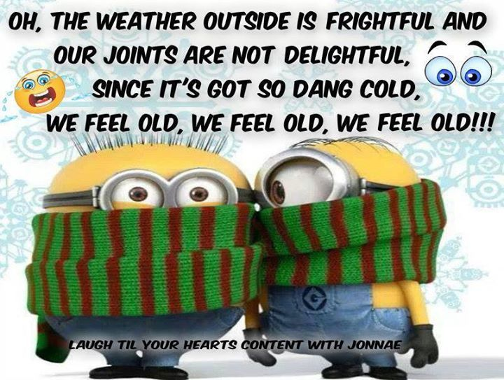 The Weather Outside Is Frightful Quotes Quote Winter Cold Funny Quotes Humor Minions Winter Quotes Mi Cold Weather Funny Funny Minion Memes Funny Minion Quotes