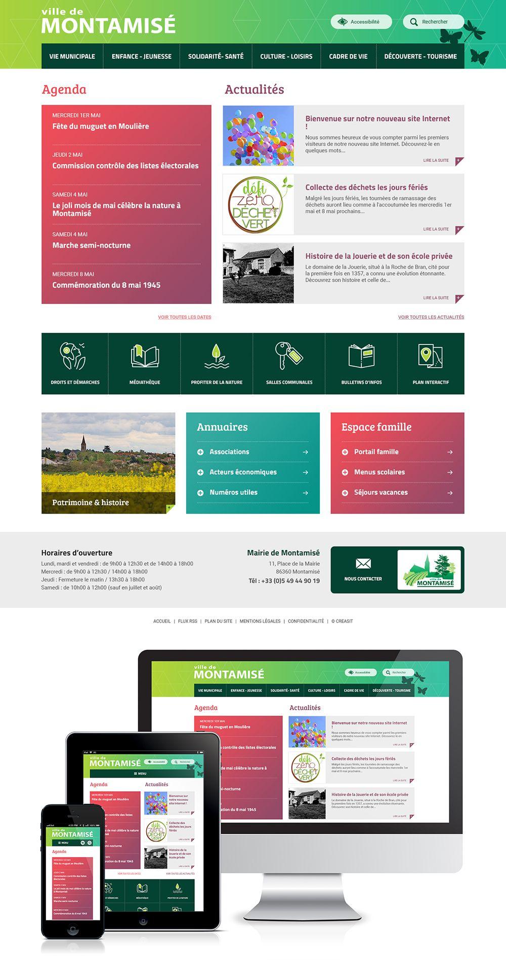 Createur De Site Internet création du site web de la commune de montamisé (86) : #web