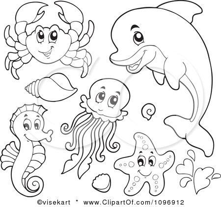 sea creatures II | espejos | Pinterest | Molde, Dibujo y Animales
