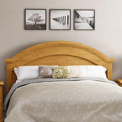 Full Queen Arch Top Country Style Headboard In Pine Finish