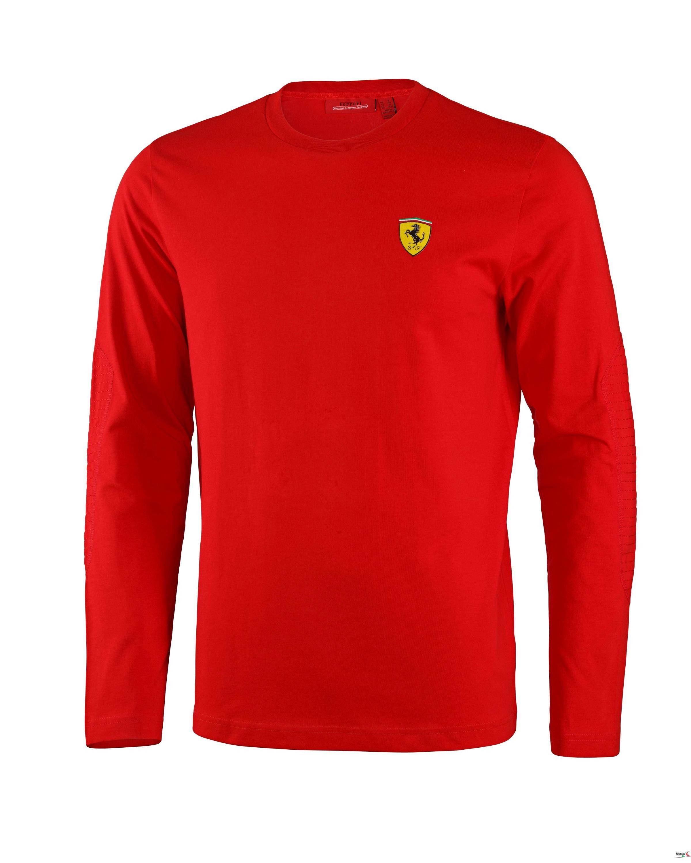 6a8c8d980feb6d Bluza Ferrari Long Sleeve Tee - Red 3 CZERWONY | FERRARI MEN \ BLUZY I  SPODNIE | Fbutik | Scuderia Ferrari Collection