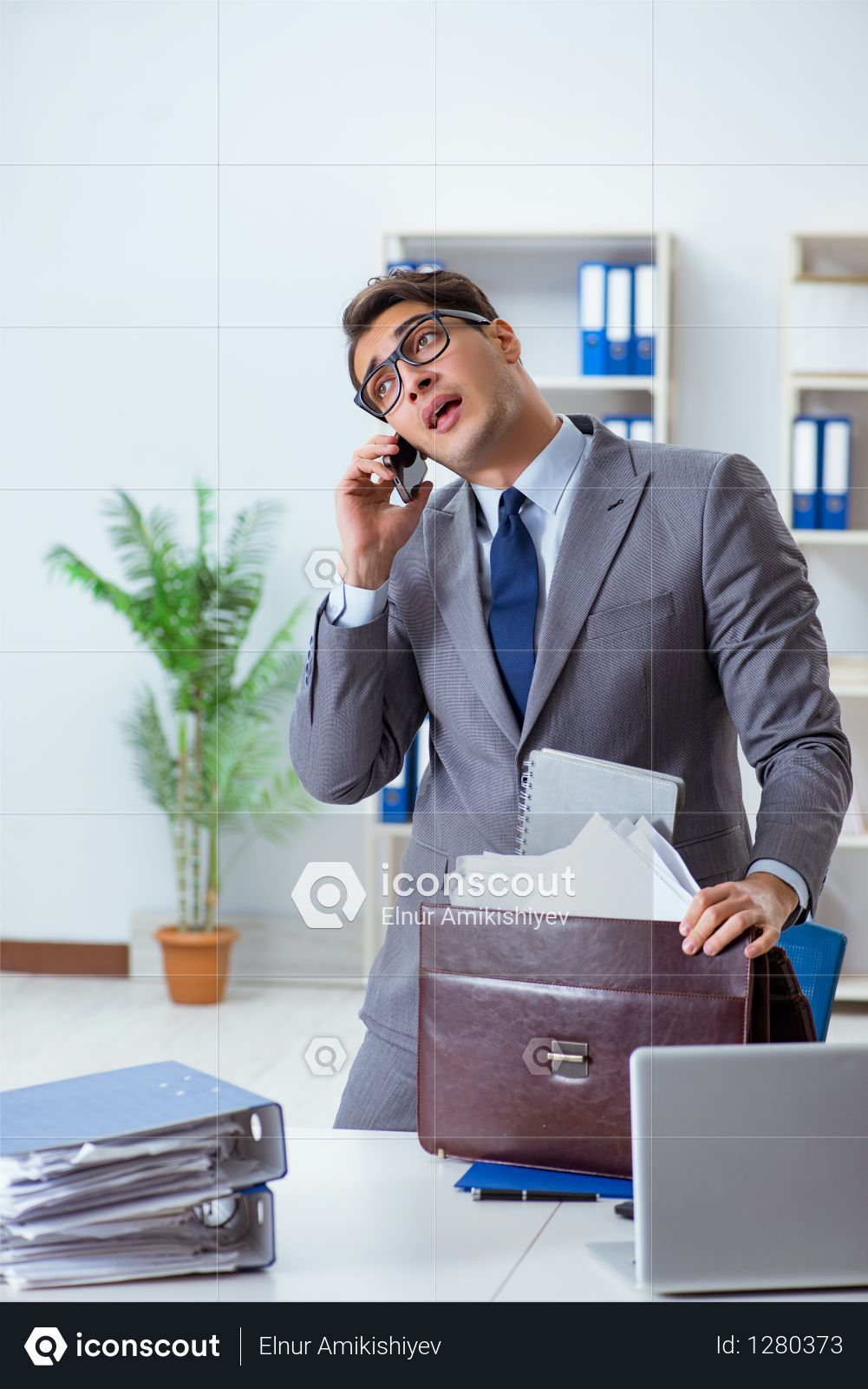 Premium Employee with too much work taking it home Photo