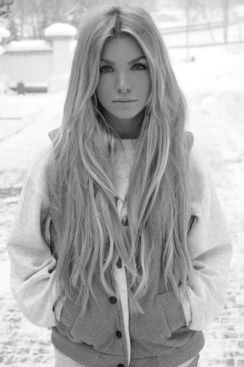 Lovely long blonde.