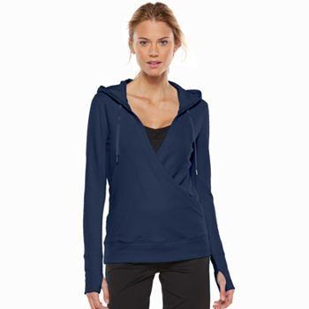 fab7659cdcb Women's Tek Gear® Crossover French Terry Yoga Hoodie   Exercise ...